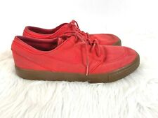 Nike SB Zoom Stefan Janoski size 11 Skater Shoes Sneakers Red Canvas 333824-662