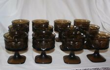Vintage Noritake Spotlight Walnut Brown Sherbet Glasses Set 12