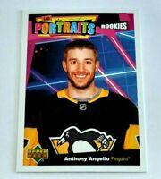Anthony Angello Portraits Rookies P-52 Penguins 2020-21 Upper Deck Series 2 RC
