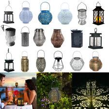Solar Power Hanging Lantern Led Light Outdoor Garden Patio Yard Waterproof Lamp