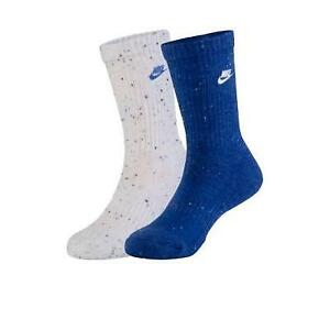 Nike Reflex Blue Boys 4-7 2-Pack Futura Speckle Socks NEW