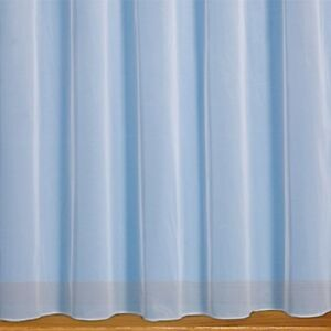 PLAIN WHITE WEIGHTED BOTTOM NET CURTAINS - ANY WIDTH ANY DROP SOLD BY THE METRE