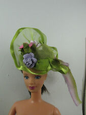 Green hat for  Barbie,Poppy Parker or similar dolls