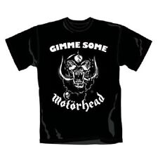 Motorhead T Shirt Gimme Some Classic Warpig Band Logo Official Mens Black M