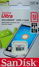 Sandisk Ultra 32GB microSD SDHC UHS-1 class10 Karte 32GB microSD OVP +SD Adapter
