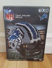 NFL BRXLZ Team Helmet 3D Construction Block Set- DETROIT LIONS 1571-PCS-COMPLETE
