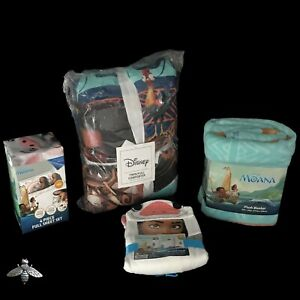Disney Moana Lot Comforter Sheet Set Pua Pet towel Plush blanket