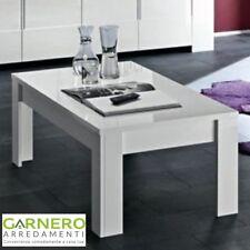 Tavolino basso EOS, finiture in rovere kia o bianco lucido per sala o salotto
