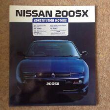 Nissan 200sx 1989 sales brochure