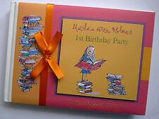 ROAL DAHL'S MATILDA PERSONALISE GIRLS BIRTHDAY GUEST BOOK - ANY DESIGN