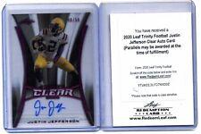 2020 Leaf - Trinity Football - Justin Jefferson Clear Auto Card - 40/50