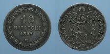PIO IX 10 BAIOCCHI 1856 A.X ROMA BB RR!!