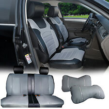 Gray/Black PU Leather Car Seat Covers Cushion Front Rear to Suzuki 80255