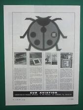 5/1968 PUB SUD AVIATION PHYSIQUE APPLIQUEE ANTENNES EMETTEURS COCCINELLE AD