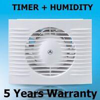 100mm Bathroom, Kitchen, Toilet Wet Room Extractor Fan + TIMER +  HUMIDITY