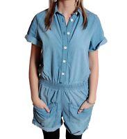 RVLT Revolution Foxy Denim Suit Jumpsuit Overall Jeans Einteiler Playsuit Shorts