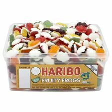 1 TUB HARIBO FRUITY FROGS RETRO SWEETS WHOLESALE DISCOUNT TREATS PARTY CANDY