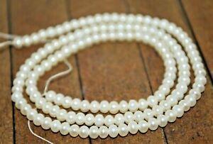New 15 inch strand Genuine Akoya Pearl Gemstone Beads - 4mm - A4860c