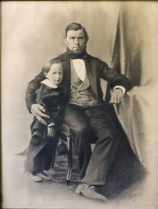 Père et fils 1818 Dessin crayon signé Julien Léopold BOILLY (1796-1874) Paris