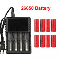 26650 Battery 3000mAh 3.7V Flat Top Li-ion Rechargeable Batteries For Torch Lot