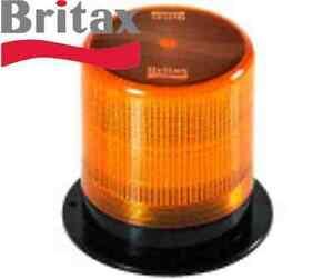 BRITAX BF180-00 LED Rotating Warning Flashing Beacon/Strobe  - Flange Base