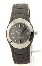 ESQ BY MOVADO GREY DIAL DATE TITANIUM BRACELET WOMEN'S WATCH 07100731 PRE-OWNED
