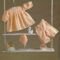 "Baby Dress Bonnet and Knee Pants in 4ply Knitting Pattern 16-20""  823"