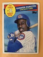 SHAWON DUNSTON RC 1982 #1 DRAFT PIICK CHICAGO CUBS TOPPS 1985 BASEBALL CARD