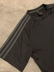 Mens Adidas Training Top - Black/Grey Size Medium
