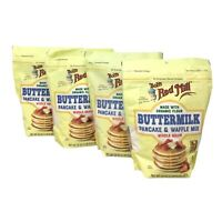 4-Pk Bob's Red Mill Organic Buttermilk Pancake & Waffle Mix, 24oz
