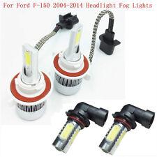 9008 H13 LED Headlight+9145 9140 Fog Lights Combo Pack For Ford F-150 2004-2014