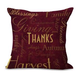 2 Pcs 18'' Square Cotton Linen Throw Pillow Case Cushion Cover Home Sofa Decor N