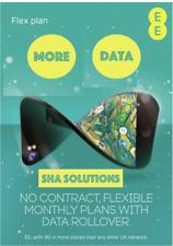 EE 4G Flex Plan Trio Sim Card For 10GB, 20GB Data, Unused Data Rolls over