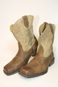 Ariat Mens 11 D 44.5 M Rambler Leather Square Toe Pull On Western Boots 35829