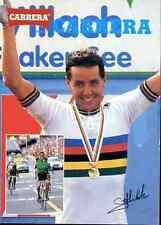 STEPHEN ROCHE printed AUTOGRAPH CARRERA Cyclisme cycling WORLD champion Monde