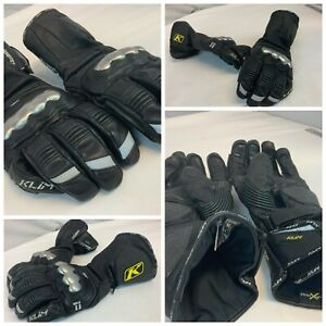 Klim Element Long Gloves XL Men Black Gore-Tex Titanium Mint $230 YGI D1-310