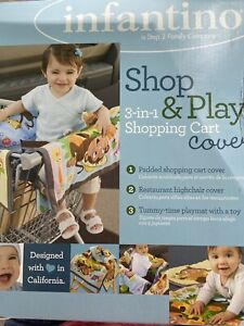 NEW INFANTINO SHOP & PLAY Grocery Cart / Restaurant High Chair Cover/ Play Mat