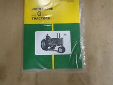 John Deere Model G Series Tractor Operators Manual Omr2009cc E9