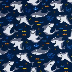 Baumwolljersey lächelnder Hai (Preis=)