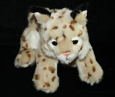 "Save our Space Bobcat LYNX 10"" Wild Bob Cat Cheetah Plush Stuffed Soft Toy 2003"