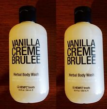 Lot of 2 Hempz Vanilla Creme Brulee Herbal Body Wash 8.5 fl oz x 2