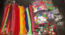 ASSORTED CRAFT SET 870 Pcs Pipe Cleaners/Pom Pom Balls/Googly Eyes/Foam Stickers