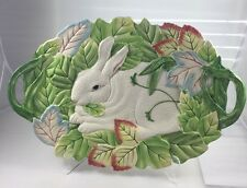 Fitz And Floyd Classics Le Lapin White Bunny Rabbit Serving Platter Easter