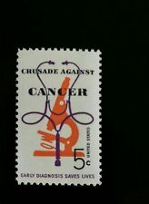 1965 5c Crusade Against Cancer, Early Diagnosis Saves Scott 1263 Mint F/VF NH