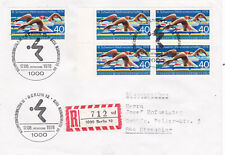 West Berlin 1978 Third World Swimming Championships FDC Registered Mail VGC