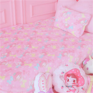 My Melody Blanket Bed Sheet Flannel Plush Nap blanket Throws Beddings Pillowcase