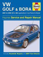 Haynes Service & Repair Manual Vw Golf & Bora 2001 - 2003 (X To 53) 4 Cyl 4169
