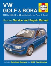 Haynes Service & Repair Manual Vw Golf & Bora 2001 - 2003 (X To 53) 4 Cyl 4169