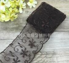Wholesale!Bilateral Handicrafts Embroidered Flowers Net Lace Trim Ribbon HB04