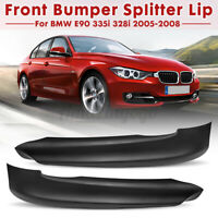 Pair Front Bumper Splitter Lip Fit For BMW E90 325i 335i 328i 330i 2005-2008